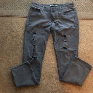 Gray express jeans